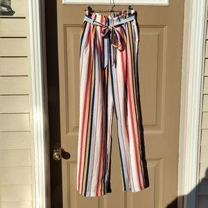 Pants - NWT Rainbow Striped Wide Leg Pants